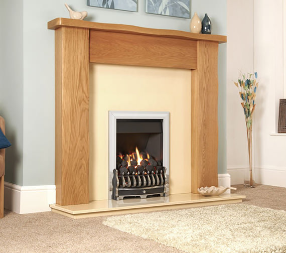 Flavel Richmond Manual Control Inset Gas Fire Silver - FICC37MN