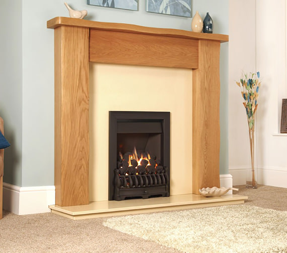 Flavel Richmond Slide Control Inset Gas Fire Black - FICC53SN
