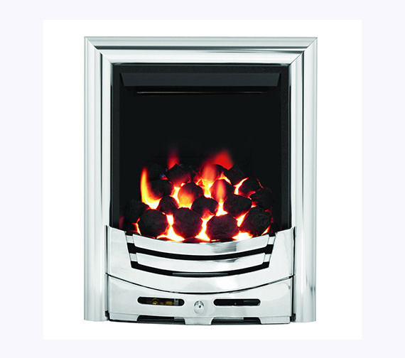 Be Modern Signum Slimline Thermostat Inset Gas Fire Brass - 55115
