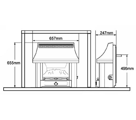 Technical drawing QS-V39800 / 0534101