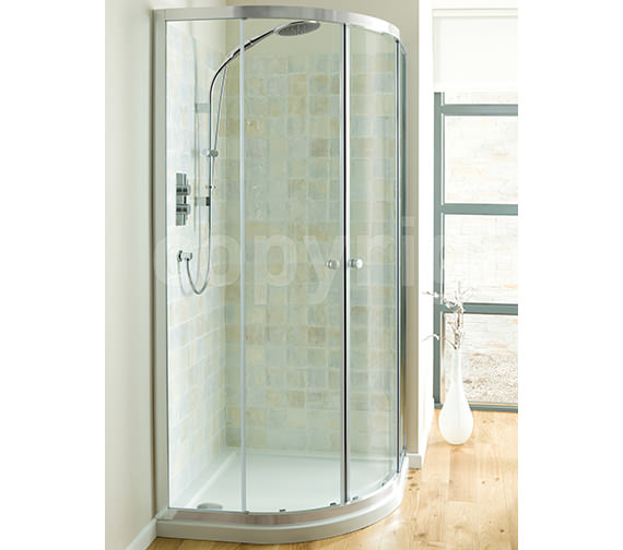 Simpsons Edge Double Door Quadrant Enclosure 900mm - EQDSC0900