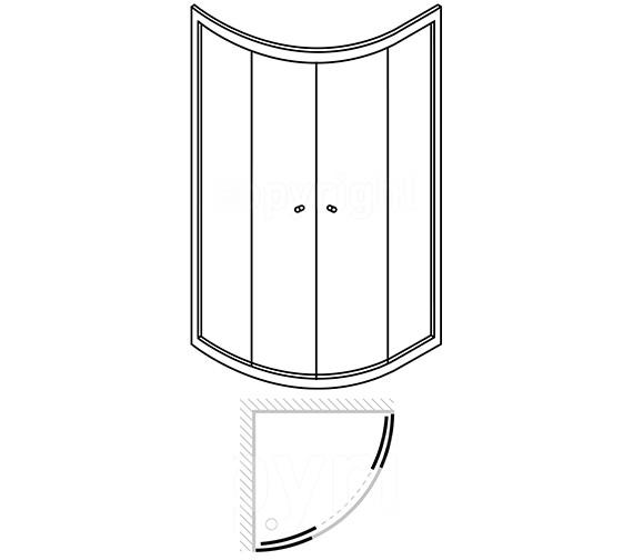 Technical drawing QS-V39907 / EQDSC0900