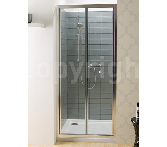 Simpsons Edge Bi-fold Shower Door 900mm - EBFSC0900