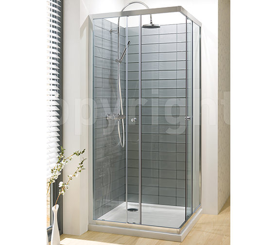 Simpsons Edge Corner Entry Shower Enclosure 900mm - ECESC0900