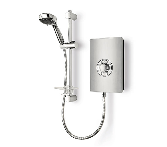 Triton Aspirante Brushed Steel Electric Shower 9.5 Kw - ASP09BRSTL