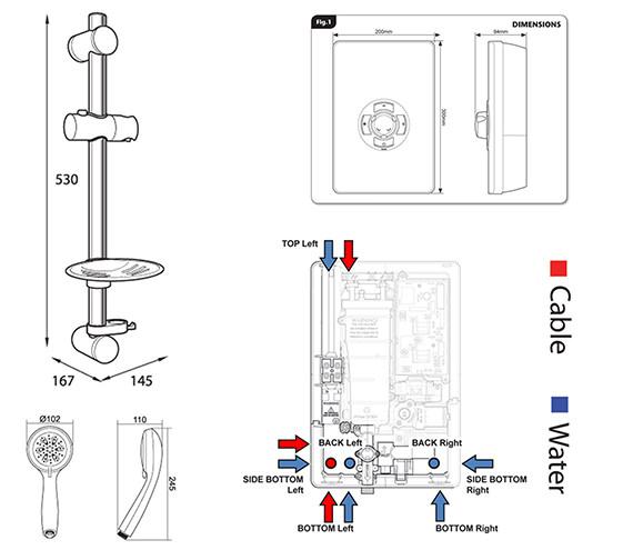 Technical drawing QS-V39978 / ASP08GSWHT