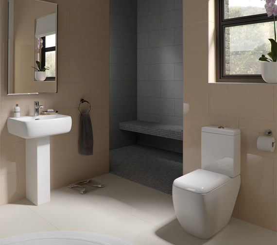 Additional image of RAK Metropolitan Deluxe Close Coupled WC And Soft-Close Seat 620mm