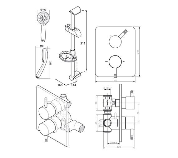 Triton unichrome thames dual control mixer shower unthdcmx for Furniture zone thames