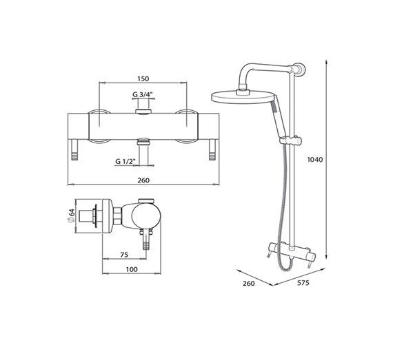 Technical drawing QS-V40041 / UNTHTHBM