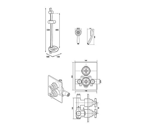 Technical drawing QS-V40046 / UNMEDCMX