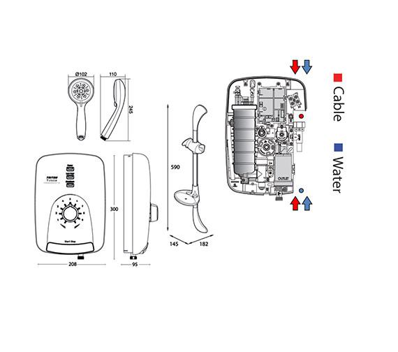 Technical drawing QS-V40037 / SPSG09WC