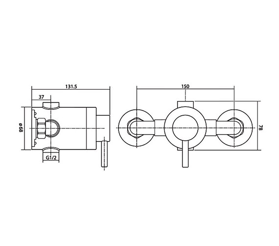 Technical drawing QS-V40080 / ELITMV3EXSL