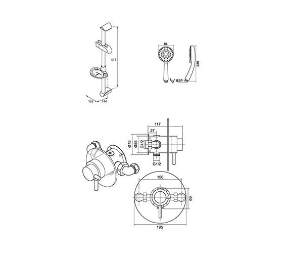 Technical drawing QS-V40084 / UNTHBTCMMN