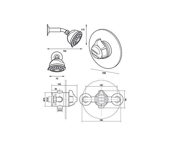 Technical drawing QS-V40093 / UNDATHCMBTFH