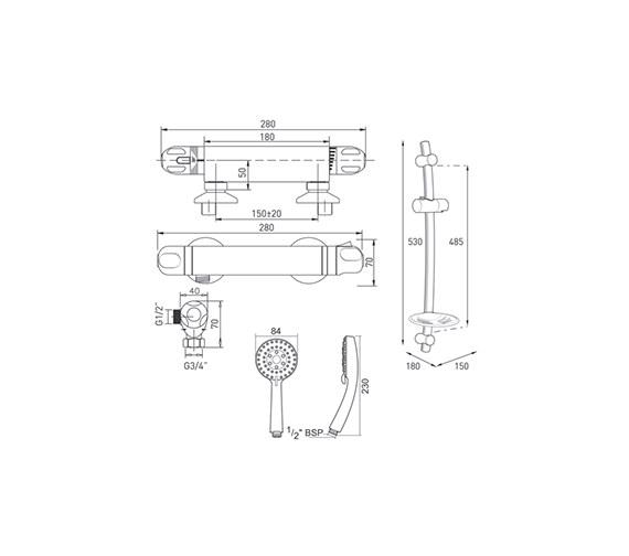 Technical drawing QS-V40101 / ECODOTHBM