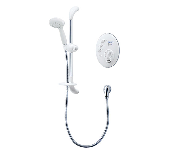 Triton T300si Remote Electric Shower 8.5 KW White And Chrome-SP3008SI