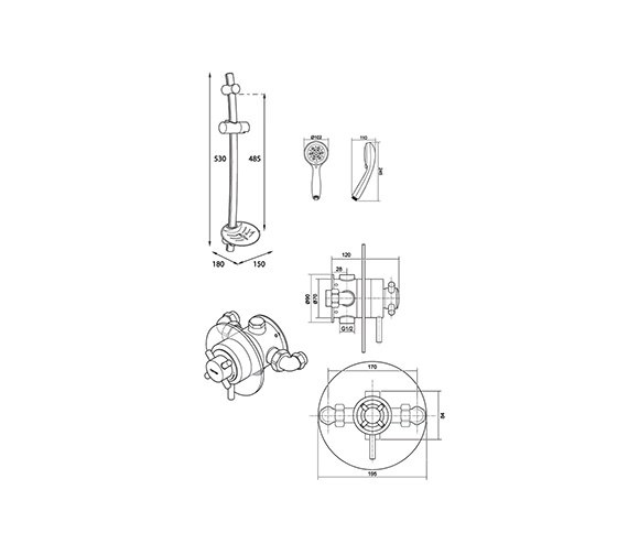 Technical drawing QS-V40119 / UNMEBTCM