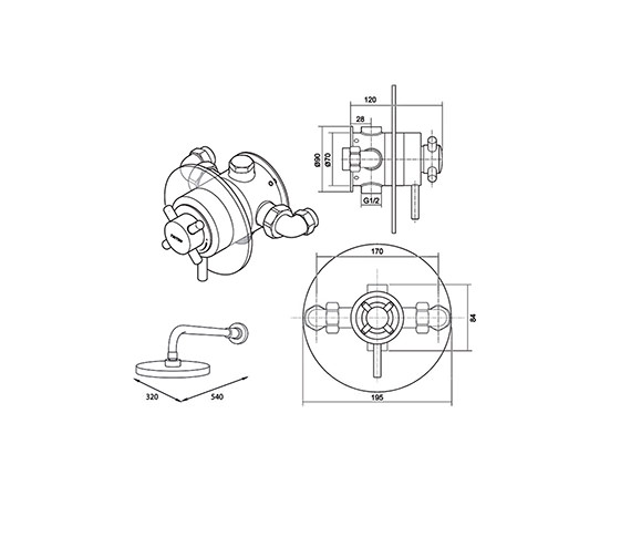 Technical drawing QS-V40120 / UNMEBTCMFH