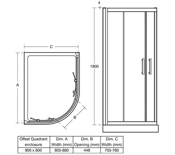 Technical drawing QS-V40128 / L6286EO
