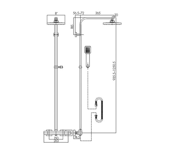 Technical drawing QS-V4014 / BEO-1896