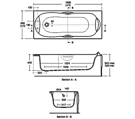 Technical drawing QS-V40174 / E769001