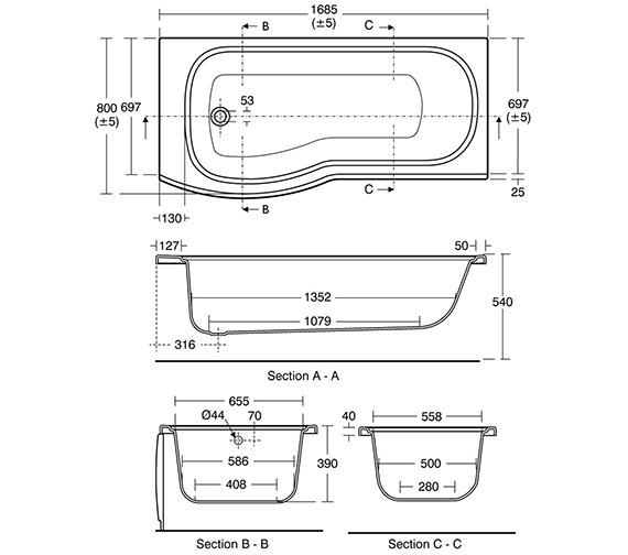 Technical drawing QS-V40176 / E760201