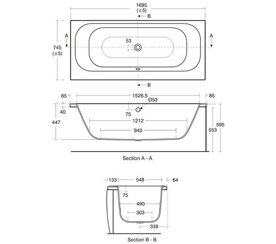 Technical drawing QS-V40189 / E635401