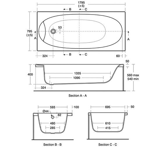 Technical drawing QS-V40192 / E480301