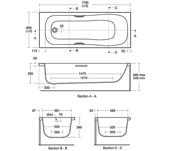Technical drawing QS-V40196 / E480901