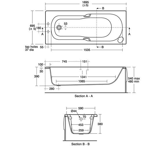 Technical drawing QS-V40205 / E411401