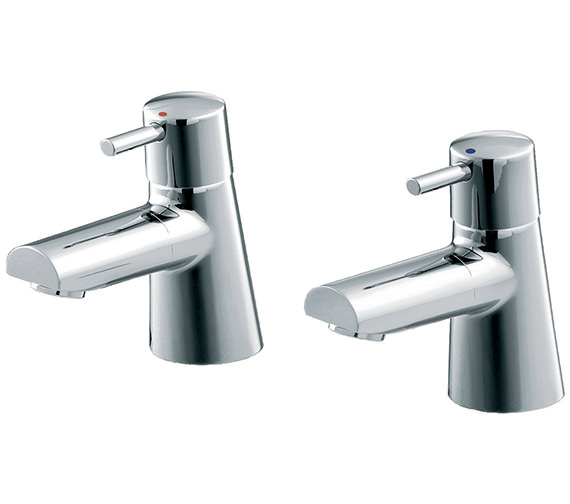 Ideal Standard Cone Pair Of Bath Pillar Taps With Lever Handles