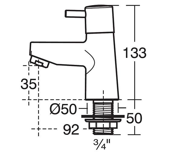 Technical drawing QS-V40263 / B5106AA