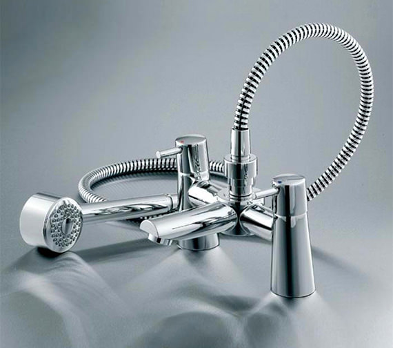 Additional image of Ideal Standard Cone Bath Shower Mixer Tap With Shower Kit