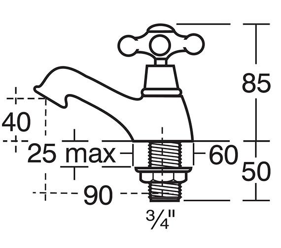 Technical drawing QS-V40278 / E6055AA