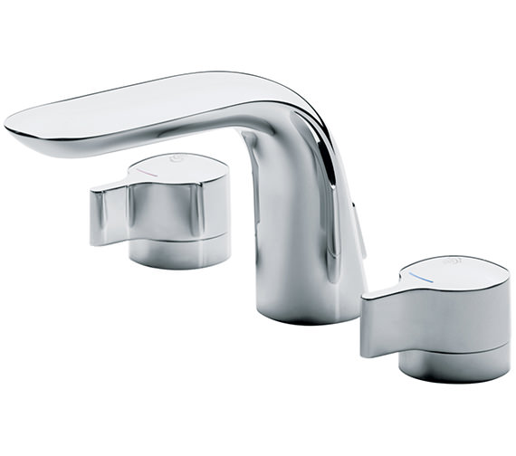 Ideal Standard Melange Dual Control 3 Hole Basin Mixer Tap With Waste