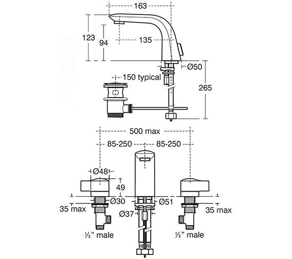 Technical drawing QS-V40279 / A4289AA