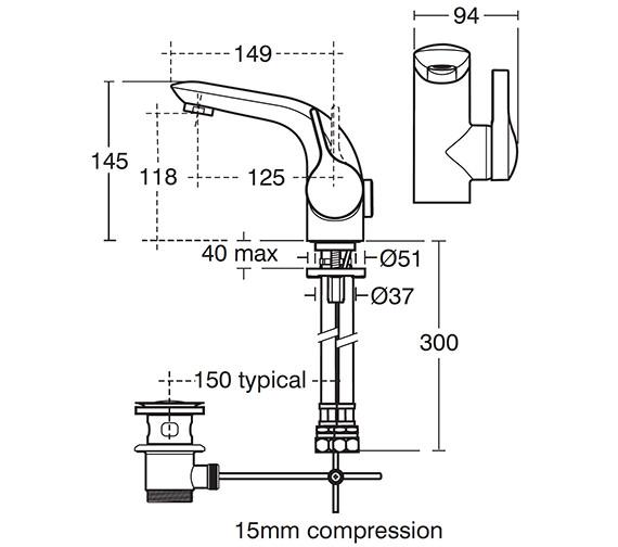 Technical drawing QS-V40281 / A4261AA