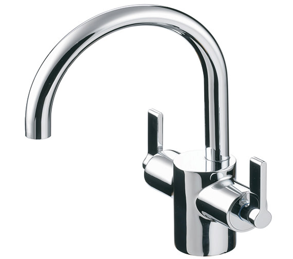 Ideal Standard Silver Dual Control Basin Mixer Tap Without Waste