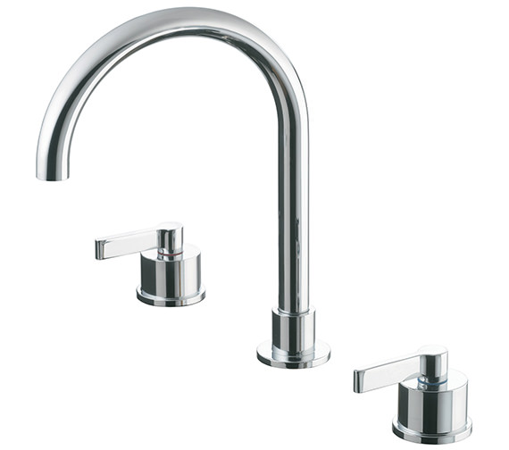 Ideal Standard Silver 3 Hole Basin Mixer Tap With Pop-Up Waste