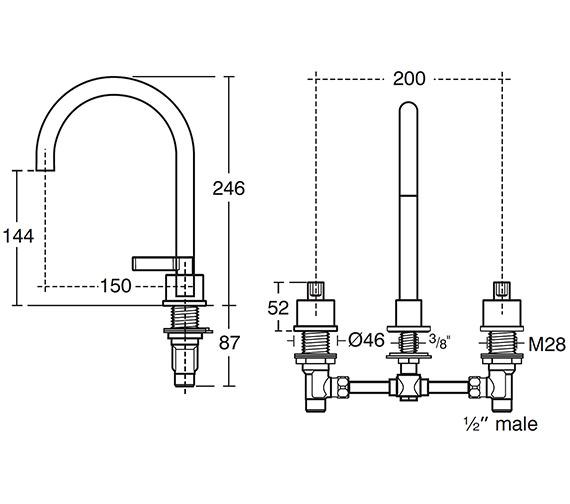Technical drawing QS-V40288 / E0061AA