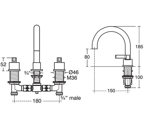 Technical drawing QS-V40289 / E0070AA