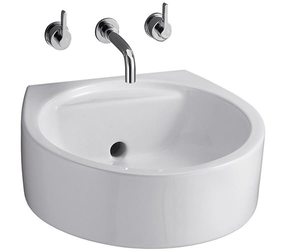 Additional image of Ideal Standard Silver 3 Hole Wall Mounted Basin Mixer With 150mm Spout
