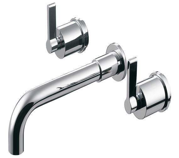 Ideal Standard Silver 3 Hole Dual Control Wall Mounted Bath Filler Tap