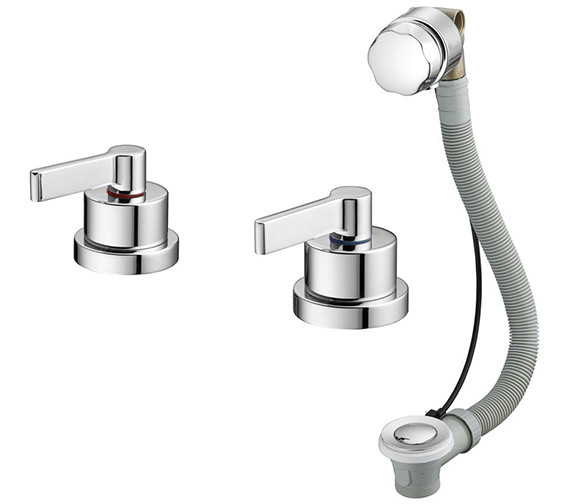 Ideal Standard Silver Idealfill Bath Filler And Waste