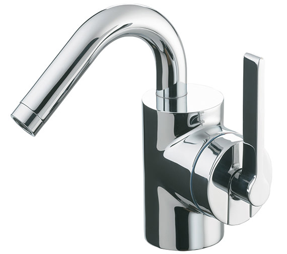 Ideal Standard Silver Single Lever Bidet Mixer Tap With Pop-Up Waste