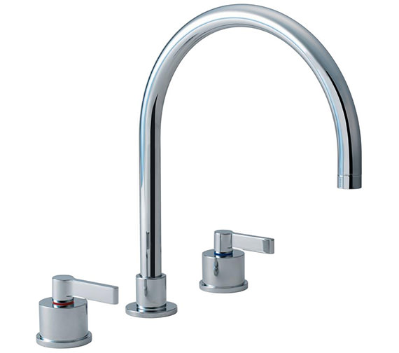 Armitage Shanks Silver Three Hole Kitchen Mixer Tap - E0078AA