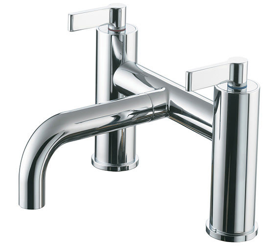 Ideal Standard Silver 2 Tap Hole Deck Mounted Bath Filler Tap
