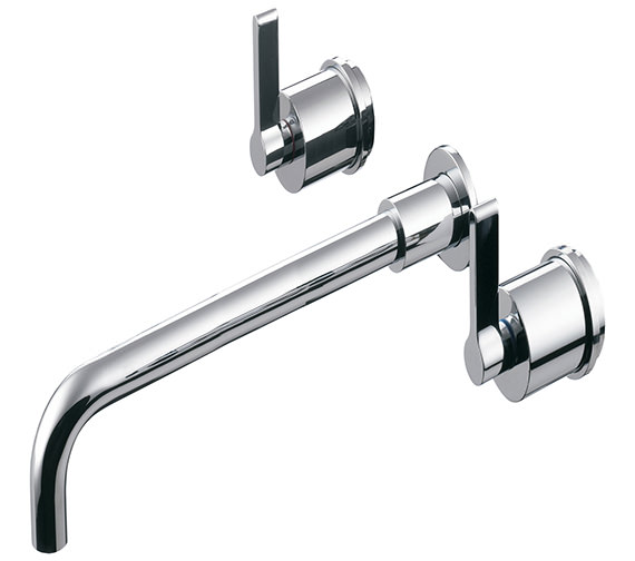 Ideal Standard Silver 3 Hole Wall Mounted Basin Mixer With 230mm Spout