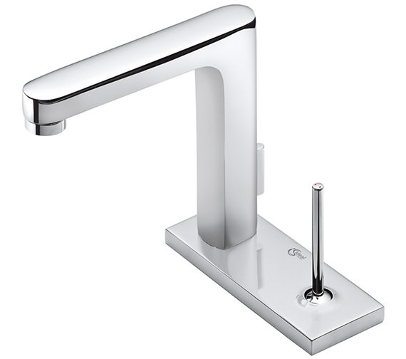 Ideal Standard SimplyU 2 Hole Rectangular Spout Basin Mixer Tap