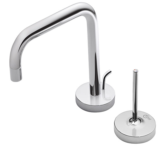 Ideal Standard SimplyU 2 Hole Basin Mixer With 2 Round Backplates